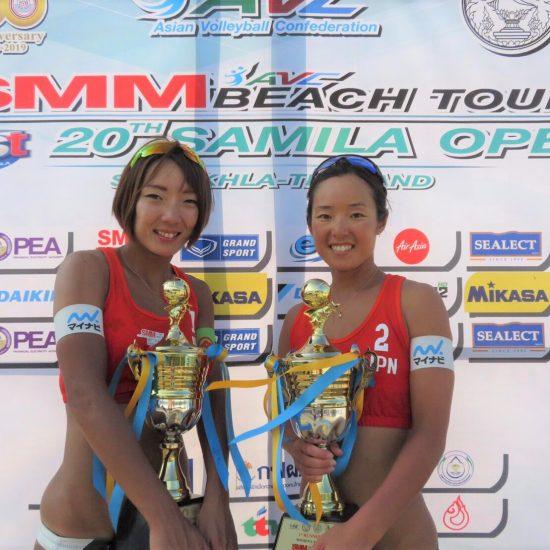 石井/村上組、銀メダル獲得。<br>「AVCアジアツアーサミラオープン」最終日。