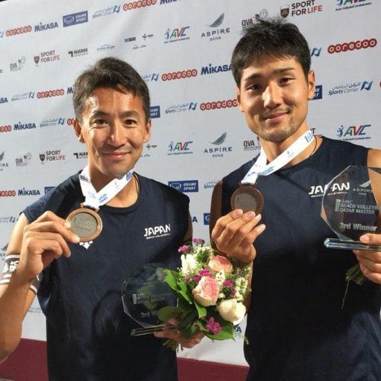 上場/石島組、初陣で銅メダル獲得。「AVCアジアツアーマスター・ドーハ大会」最終日