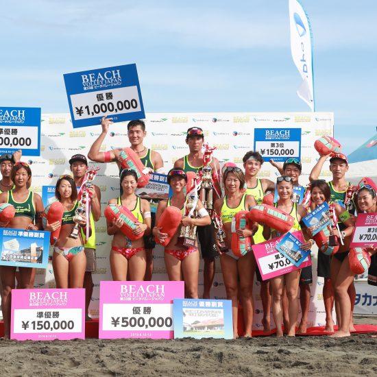 石島/白鳥組、西堀/草野組が優勝。<br>「第33回ビーチバレージャパン」最終日。