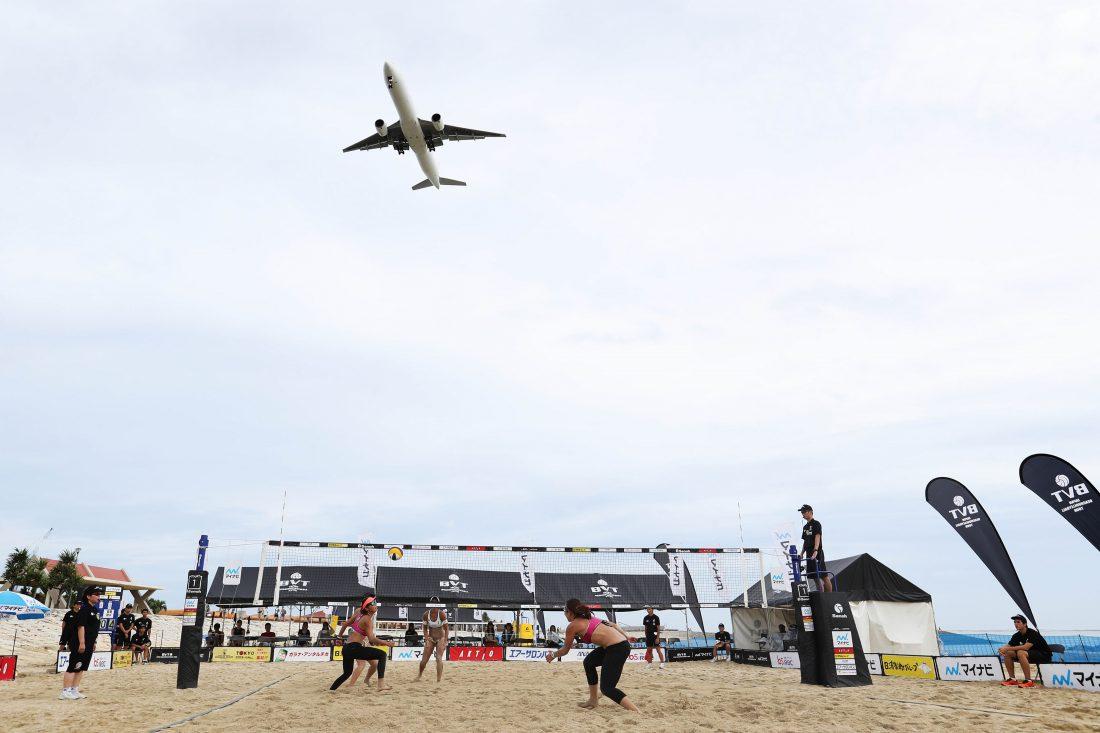 沖縄・美らSUNビーチで開催。「マイナビジャパンツアー第3戦沖縄大会」。