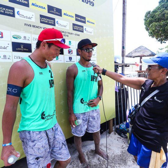 村上/土屋組、銅メダル獲得。<br>「FIVBワールドツアー 1star ランカウイ大会」