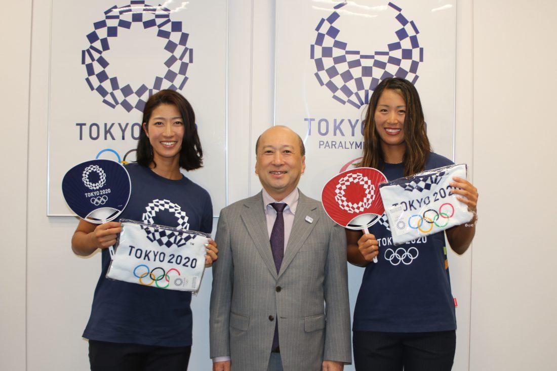 作り手とアスリートをつなげる「アスリートビジット」。溝江/橋本組が東京2020組織委員会を来訪