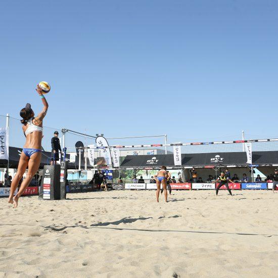 マイナビジャパンビーチバレーボールツアー2020立川立飛大会 1日目が終了