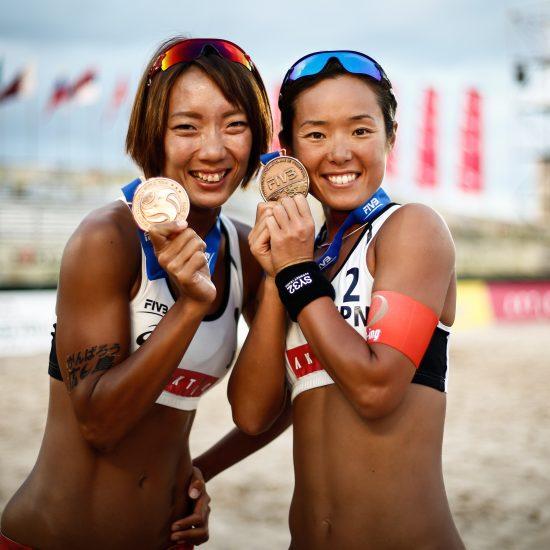 石井/村上組、史上初の銅メダルを獲得。「FIVBワールドツアー東京大会」最終日。
